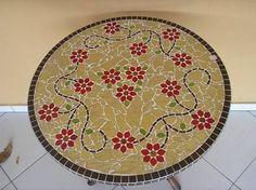 Mosaico + tampo de mesa