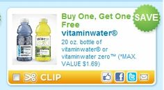 Buy One, Get One Vitaminwater Coupon