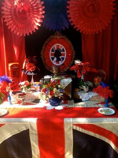 Gorgeous dessert table at a British Royal High Tea!  See more party ideas at CatchMyParty.com!