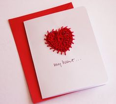 Stitched Heart Valentine's Day Card Tutorial by Martha Winger