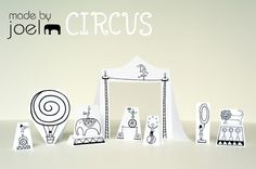 Paper City Circus!   and the other scenes too.  Great idea.