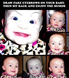 eyebrow, funni, brows, children, thought, parent, aunts, babi, kid