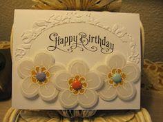 Karen's Angelic Impressions: Fun with Vellum Card Stock  Using retired Flower Fest