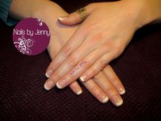 Gel Overlay on natural Nails - French with Glitter