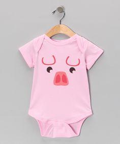 Light Pink Little Piggy Bodysuit