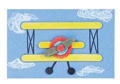 Passport to Imagination Week 3 Kids Album Project Craft Stick Biplane