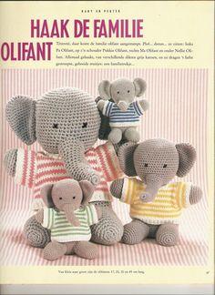 Familie Olifant | Knuffels-breien-en-haken.jouwweb.nl met patroon