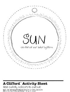 Solar System Cut-outs free printable from Scholastic