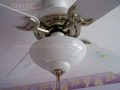 shabby sheek ceiling fan | First, disassemble and clean the parts you wish to spray paint with ...