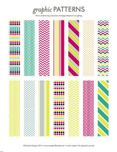 graphic patterns (perfect for covering clothes pegs or making DIY faux washi tape)
