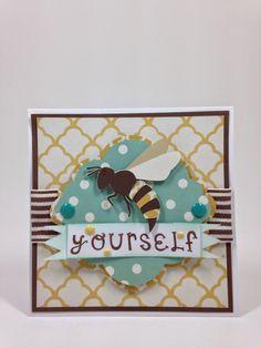Cricut Artiste Bee Yourself card