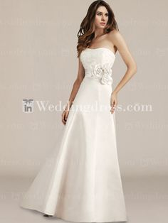 Graceful Satin Empire A-Line Wedding Gown BC543