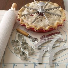 Perfect Pie Tool Kit~ have this set and it has made my life so much easier when I bake pies.