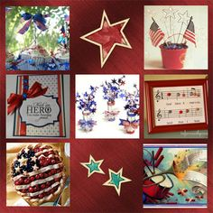 4th of July Patriotic Celebrations of the Red, White, and Blue- crafts, foods and decorating ideas.
