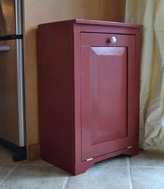 Wood Tilt Out Trash or Recycling Cabinet