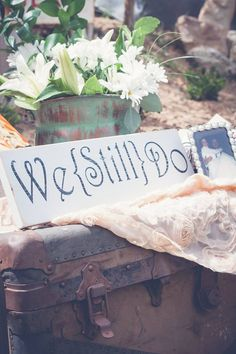 My parents 25th Wedding Anniversary. I bought this sign on etsy for only $21! Ashley Addison Photography. Shabby chic wedding. Country wedding.