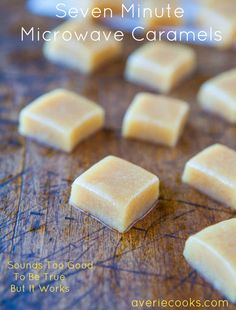 Seven Minute Microwave Caramels - @Averie Sunshine {Averie Cooks}
