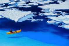 kayaking on a deep blue sea