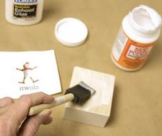"""How to transfer an inkjet print onto wood - """"gives the cleanest image of any tutorial I've seen!"""""""