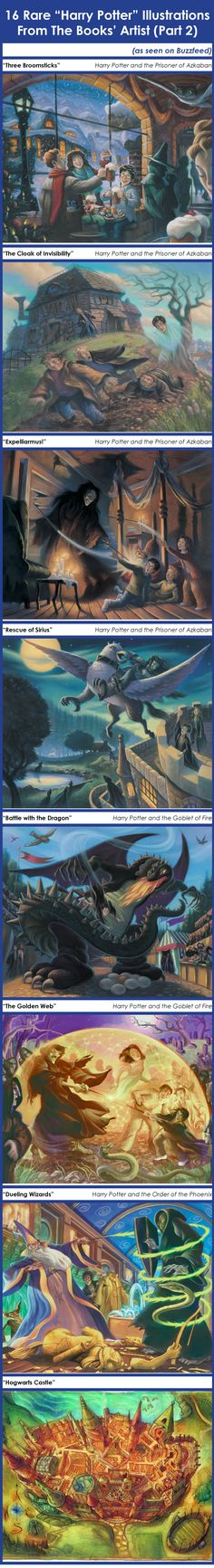 """16 Rare """"Harry Potter"""" Illustrations From Mary GrandPre (PART 2) // I pulled this from a Buzzfeed article and put all the pictures on one page so you could witness it in all its glory!"""