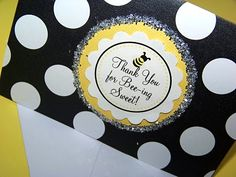 Bee Party Favors Sign
