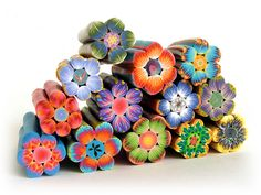 polymer clay art | Polymer clay flowers by Iris Mishly on Flickr