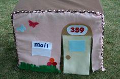 baby girl birthday, tutorials, play tents, playhouses, felt diy, dollar store crafts, nosew felt, felt playhous, kid