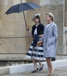 Lady Sarah Chatto and Serena Lindley attend the Easter Service at St. George's Chapel 20 Apr 2014