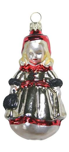 Blown glass Christmas ornament from Germany