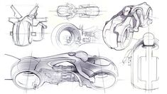 Tron Light Cycle Sketches - Daniel Simon