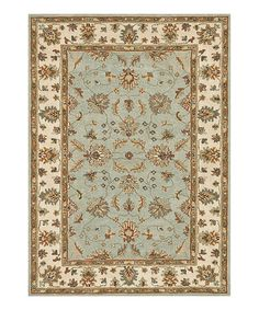 """""""Turquoise & Ivory Fairfield Wool Rug by Loloi Rugs on #zulily"""""""