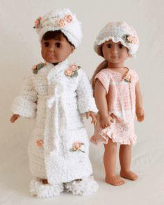 "Maggie's Crochet · 18"" Dolls Bella & Bridget's Bedtime Set Crochet Pattern"