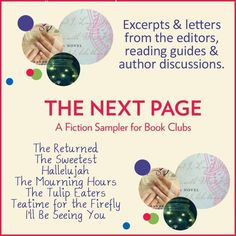 THE NEXT PAGE is a is a FREE ebook Fictional Sampler for BOOK CLUBS! DOWNLOAD today to get access to letters from the editors, reading guides & author discussions.  #HarlequinBooks, #FREE, #BookClub