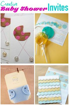 Creative Baby Shower Invites- SO CUTE:)