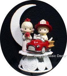 Fireman Engine PRECIOUS MOMENTS Wedding Cake Topper
