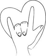 Coloring Fun for Kids and Grownups: I Love You Sign Language Coloring Page