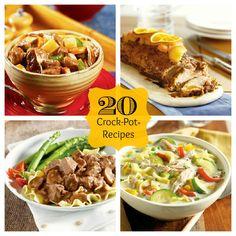 20 Crock-Pot® Recipes #crockpot #slowcooker
