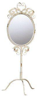 Shabby Cottage Chic French Market Vanity Mirror Decor