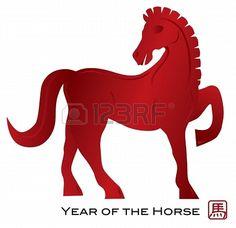 2014 carte de voeux cheval rouge