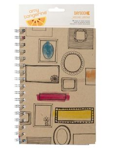Montage Spiral Daybook Amy Tangerine Sketchbook by American Crafts - Two Peas in a Bucket
