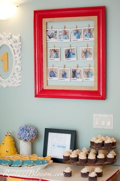 Baby's 1st Birthday - love the monthly pictures in the frame!