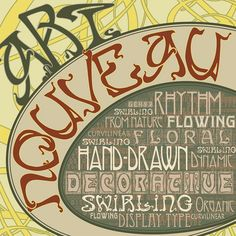 Art Nouveau typography album cover by Mario Colombini, via Flickr