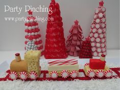 holiday ideas, candy trees, christma train, christmas snacks, candi tabl, candi tree, christma food, holiday foods, candi train