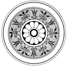 Vintage Clip Art - 3 More Ornamental Medallions