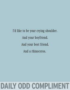 i'd like to be a rhinoceros..