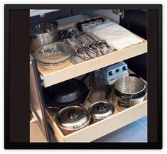 Easily access your cabinets, reduce stress and pain with roll out shelves that eliminate wasted time and the painful effort of looking for items in the back of your cabinets. These sliding shelves from Gliding Shelf Solutions offer renewed independence to seniors, as well as individuals with physical challenges.
