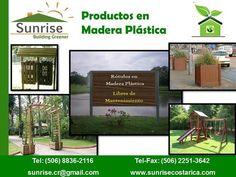 Productos en Madera Plástica - Sunrise Costa Rica