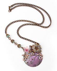 Plum Orchard necklace by Betsy Kaage