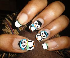 Cool Penguin Nails
