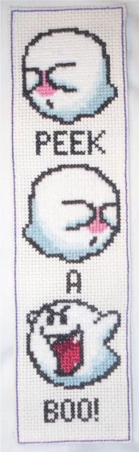 Peek A Boo from Mario perler bead design / cross stitch design